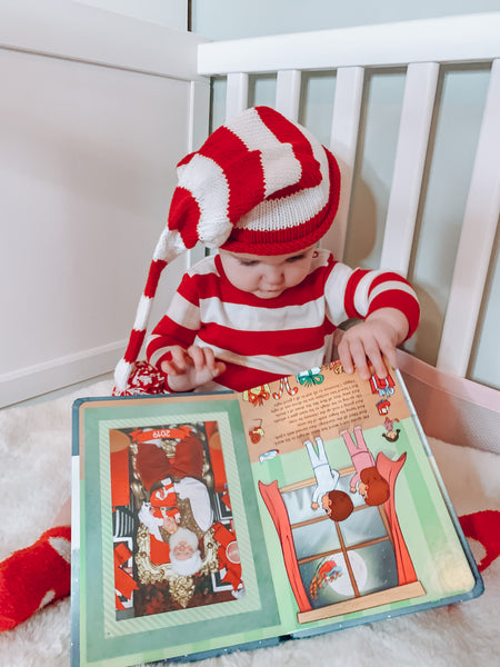 Red and White stripe sleeping cap