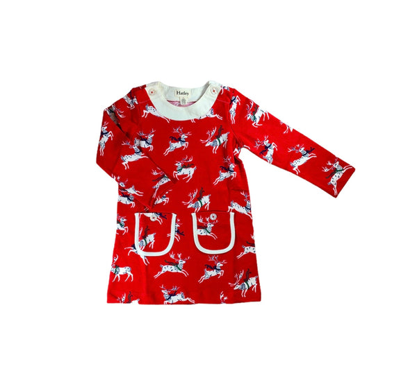 Red Dancing Deer Dress