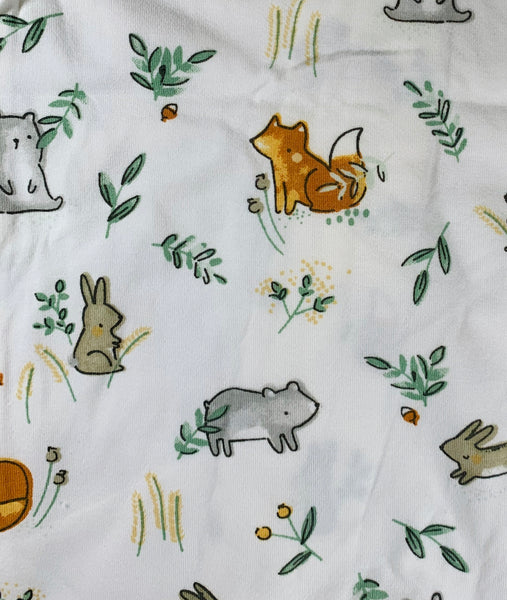 White woodland Creatures Footie