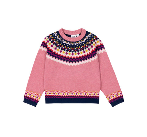 Pink Fairisle Sweater