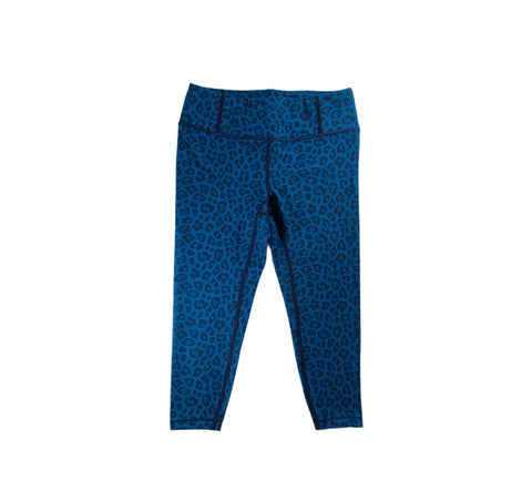 Blue Cheetah Print Leggings