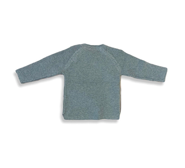 Gray Knit Cotton Sweater