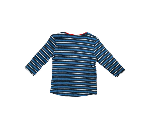 Grey and Blue Stripe Henley