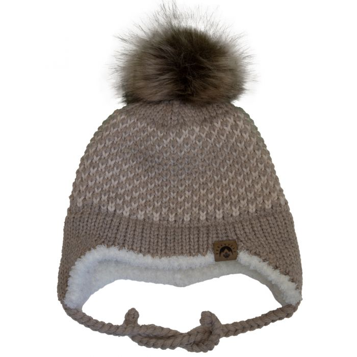 Tan Pom Winter Hat