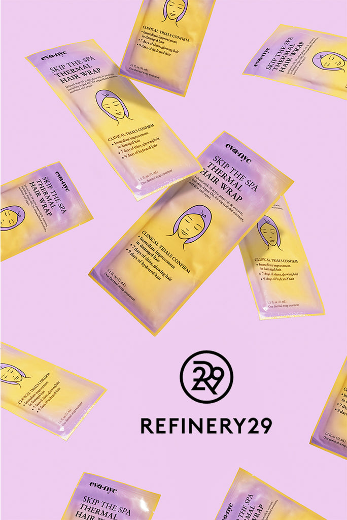 Refinery 29's Benish Shah swears by our Skip the Spa Thermal Hair Wrap!
