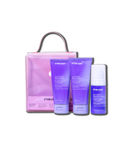 Eva NYC Smart Blonde Travel Set with clear bag with handle tone it down shampoo, tone it down conditioner, tone it down leave-in foam
