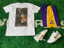 "Load image into Gallery viewer, ""The Goat Pack"" Black Mamba White Tee"