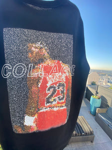 """The Goat Pack"" MJ Emoji Black Tee"