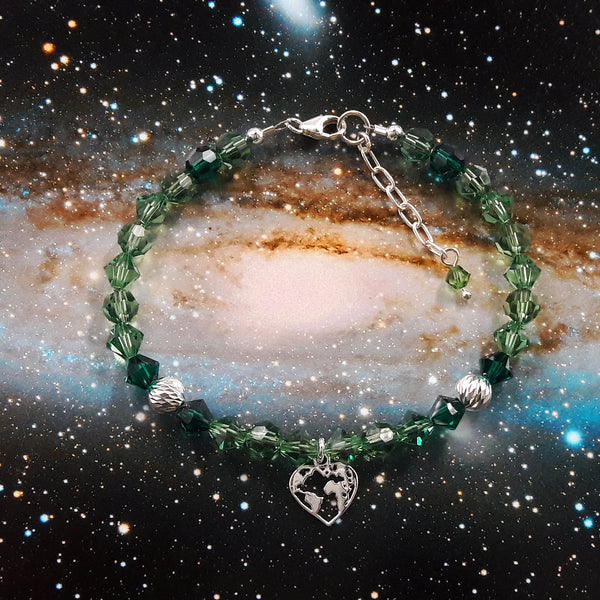 "Armband - Kollektion ""World"", Green-Mix"