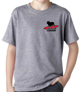 SurferDog Grey T-shirt - Adult Sizes