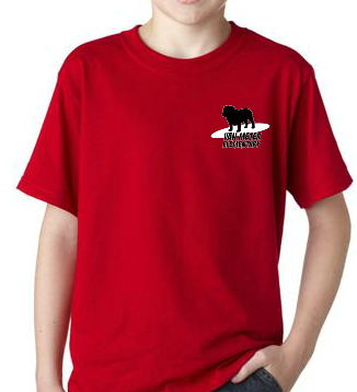 SurferDog Red T-shirt - Adult Sizes