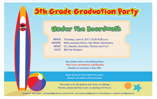 5th Grade Graduation Party - Make a Donation To The Party!