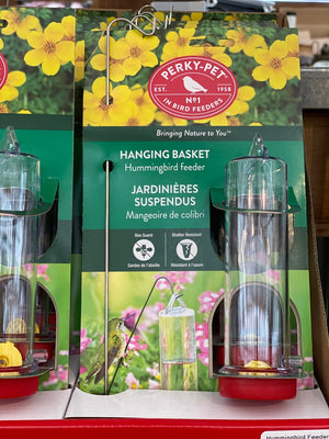 PerkyPet Hanging Basket Humming Bird Feeder