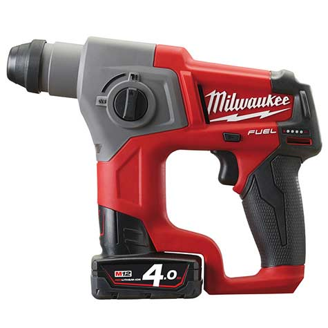 Milwaukee M12 CH-402C FUEL vrtalno kladivo SDS plus 4.0 Ah - Vsegrad