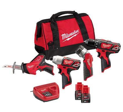 Milwaukee M12 BPP4A-202B Akumulatorski SET M12 (BDD, BID, HZ, T-LED) - Vsegrad