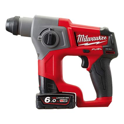 Milwaukee M12 CH-602X FUEL vrtalno kladivo SDS plus 6.0 Ah - Vsegrad