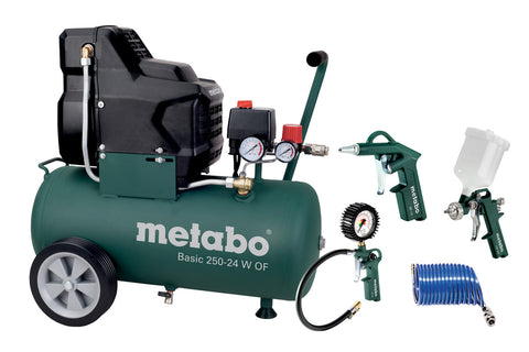 "METABO BASIC 250-24 W OF SET (690865000) KOMPRESOR ""BASIC"" - Vsegrad"
