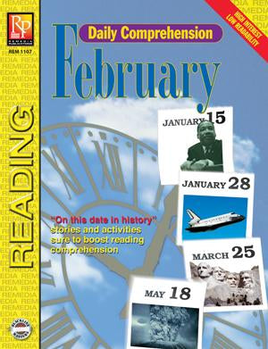 Daily Comprehension: February Gr. 5-12, R.L. 3-4