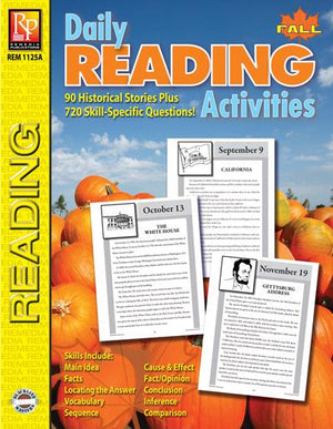 Daily Reading Activities: Fall Gr. 5-12, R.L. 3-4