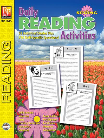 Daily Reading Activities: Winter Gr. 5-12, R.L. 3-4