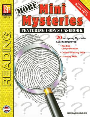 More Mini Mysteries Gr. 4-12, R.L. 3.4-6.2