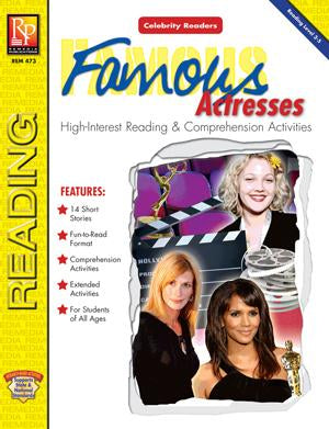 Celebrity Readers: Famous Actresses Gr. 3-12, R.L. 4.2-5.8
