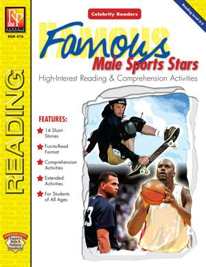 Celebrity Readers: Famous Male Sports Stars Gr. 3-12, R.L. 3-4