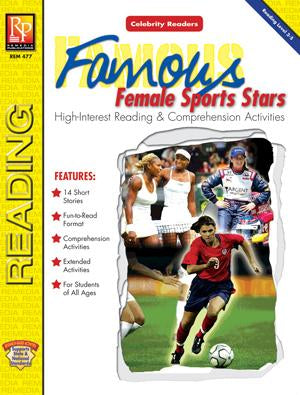 Celebrity Readers: Famous Female Sports Stars Gr. 3-12, R.L. 3.3-5.5
