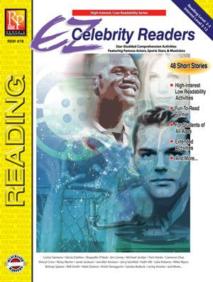 EZ Celebrity Readers Gr. 3-12, Reading Level Grades 2-3