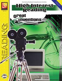 High Interest Reading: Great Inventions Gr. 3-12, R.L. 3-4