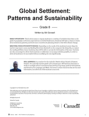 Global Settlement Patterns & Sustainability Grade 8 : Heritage & Identity Series