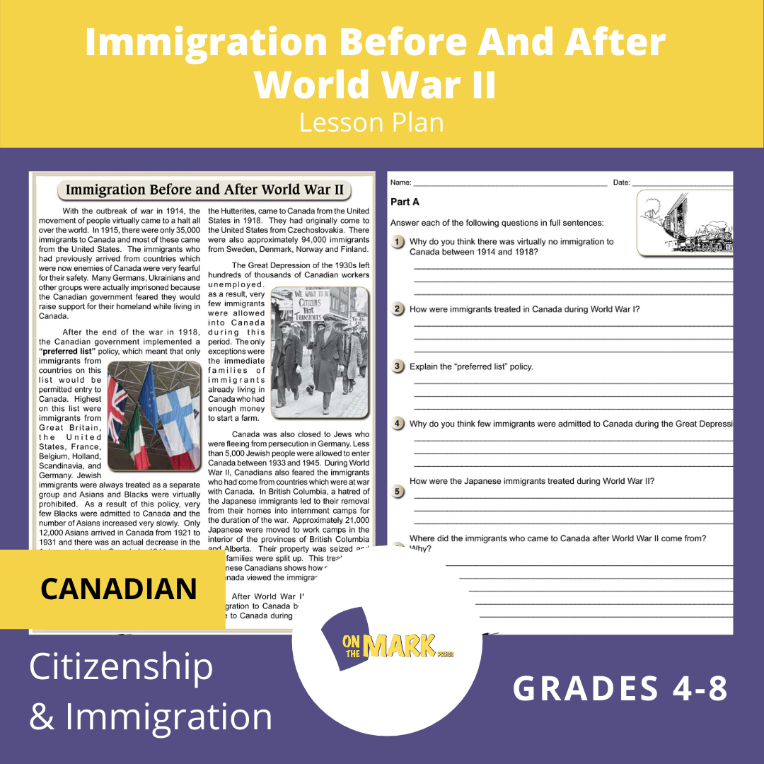 Immigration Before & After World War II Gr. 4-8