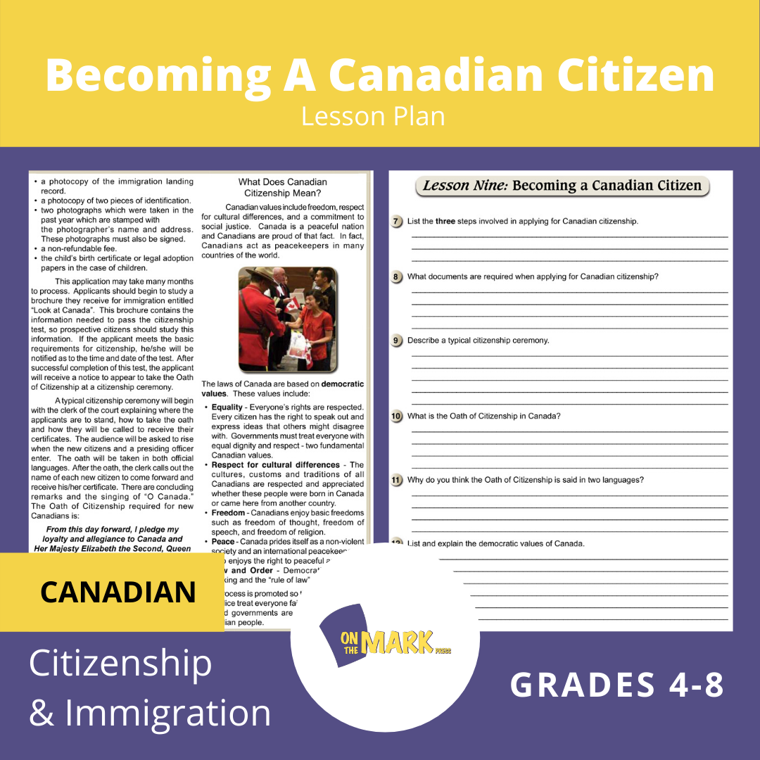 Becomming A Canadian Citizen Gr. 4-8