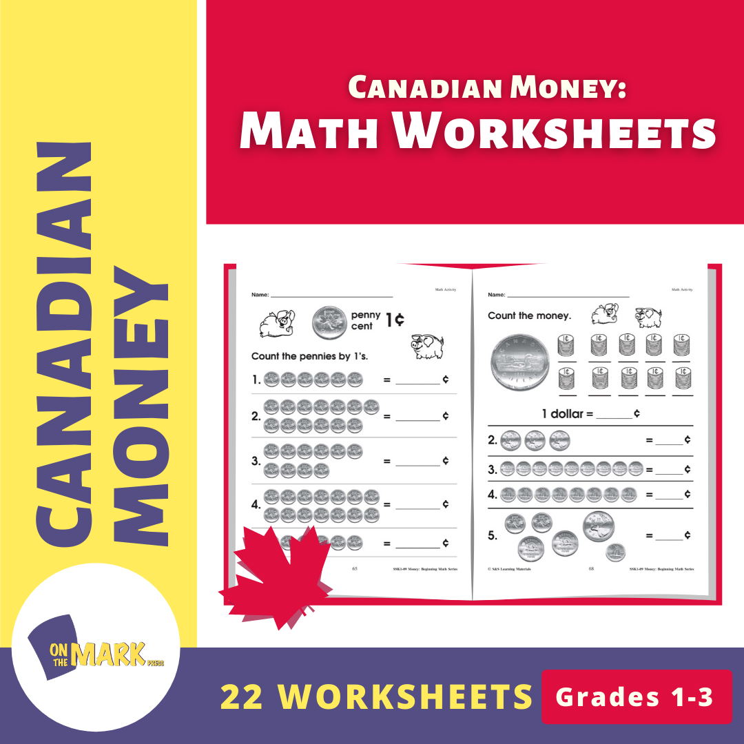 Canadian Money: Math Worksheets