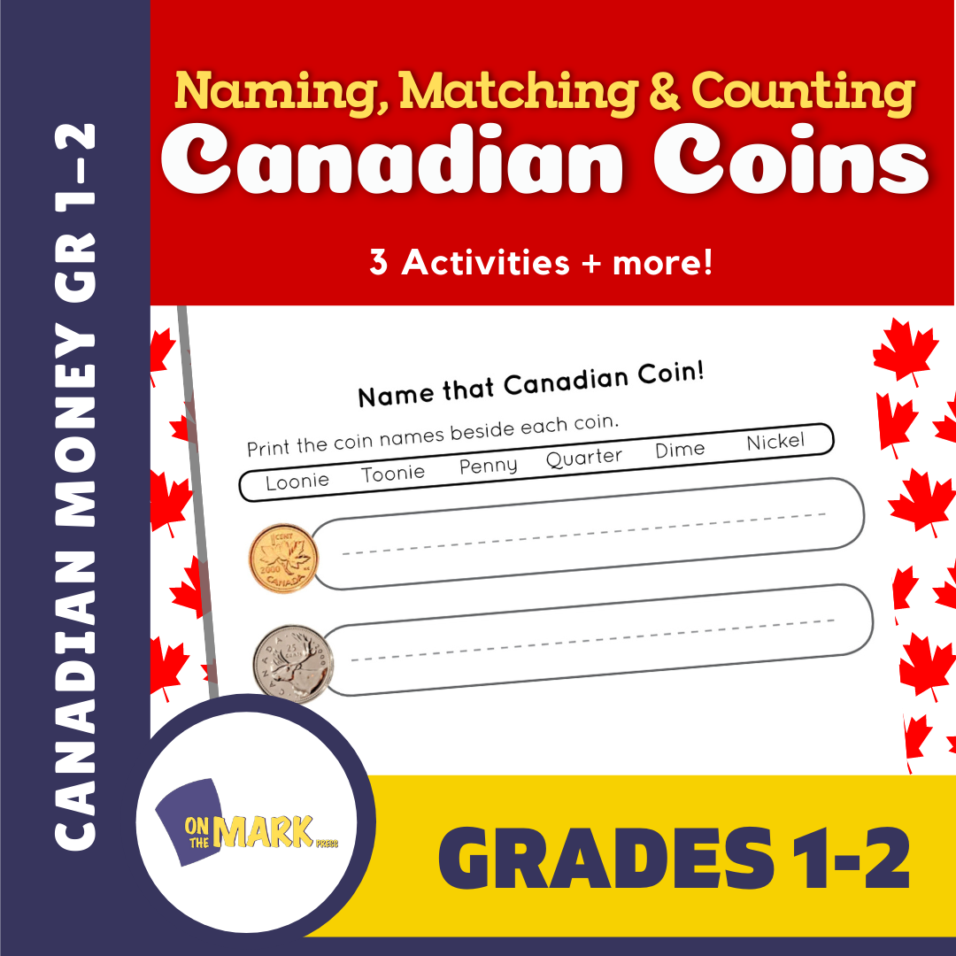 Naming, Matching & Counting Canadian Coins Grades 1-2