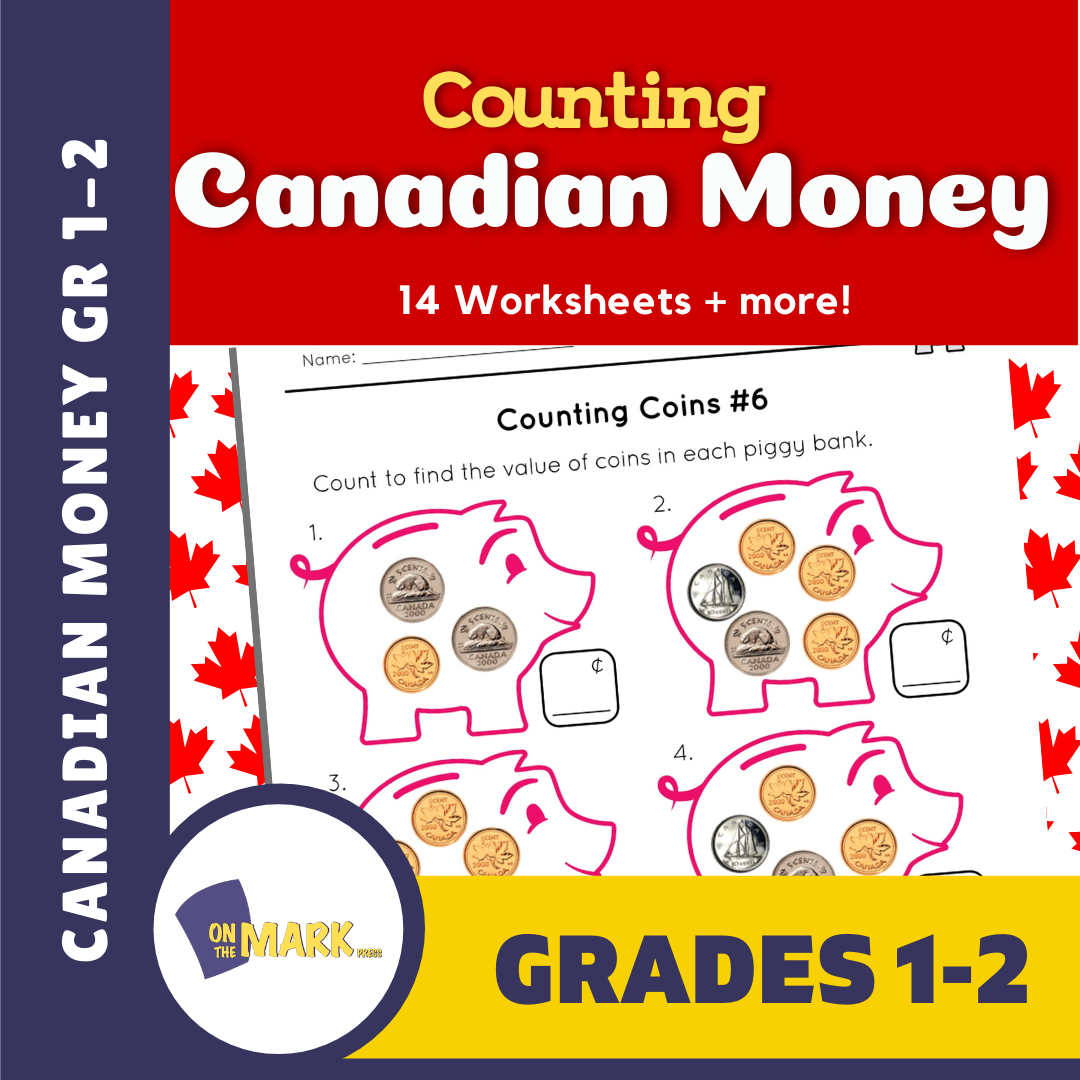Counting Canadian Money - Coins Grades 1-2