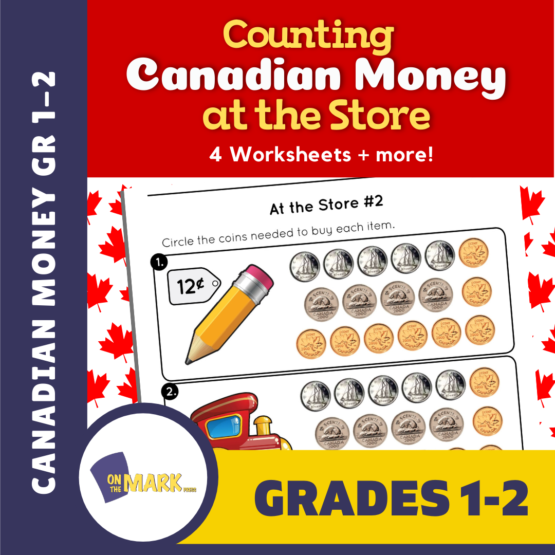 Counting Canadian Money at the Store Grades 1-2