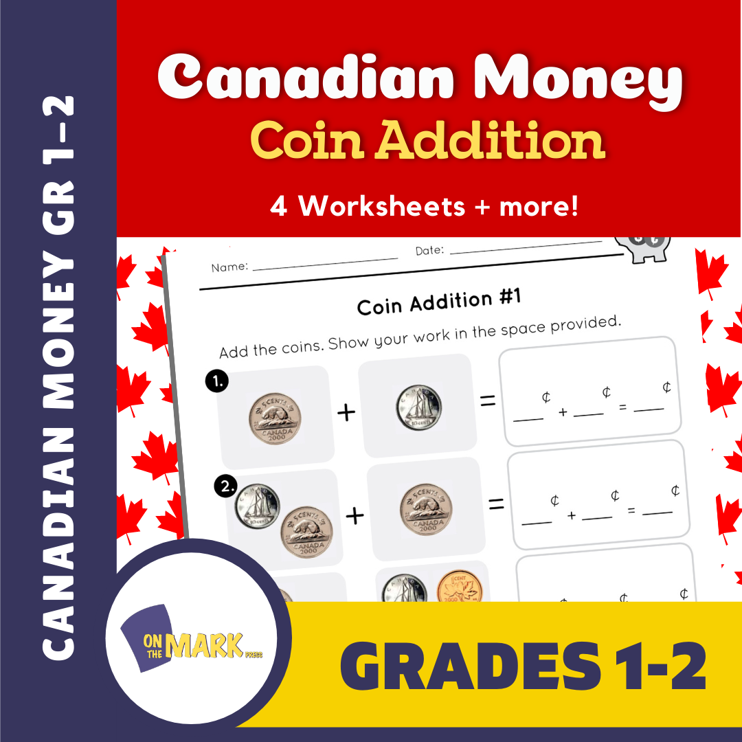 Canadian Money - Coin Addition Grades 1-2