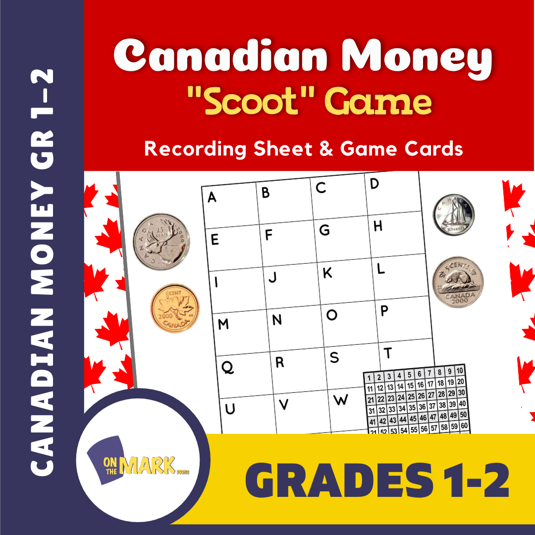 "Canadian Money - ""Scoot"" Game Grades 1-2"