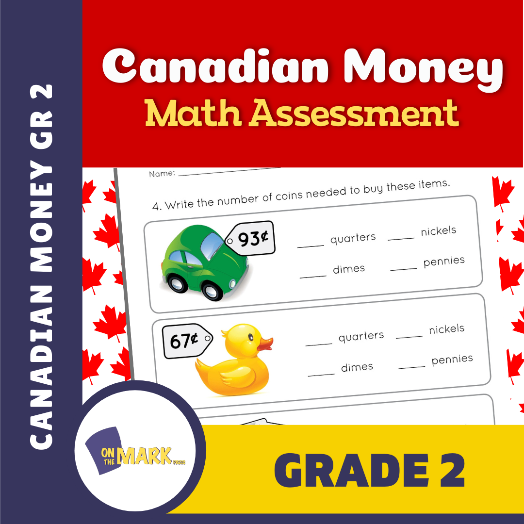 Canadian Money Grade 2 Assessment