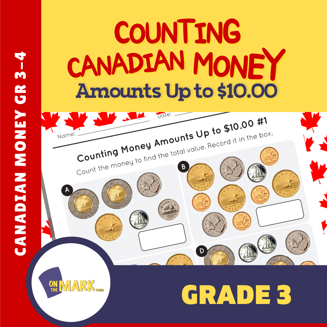 Counting Canadian Money Amounts Up to $10 Grade 3-4