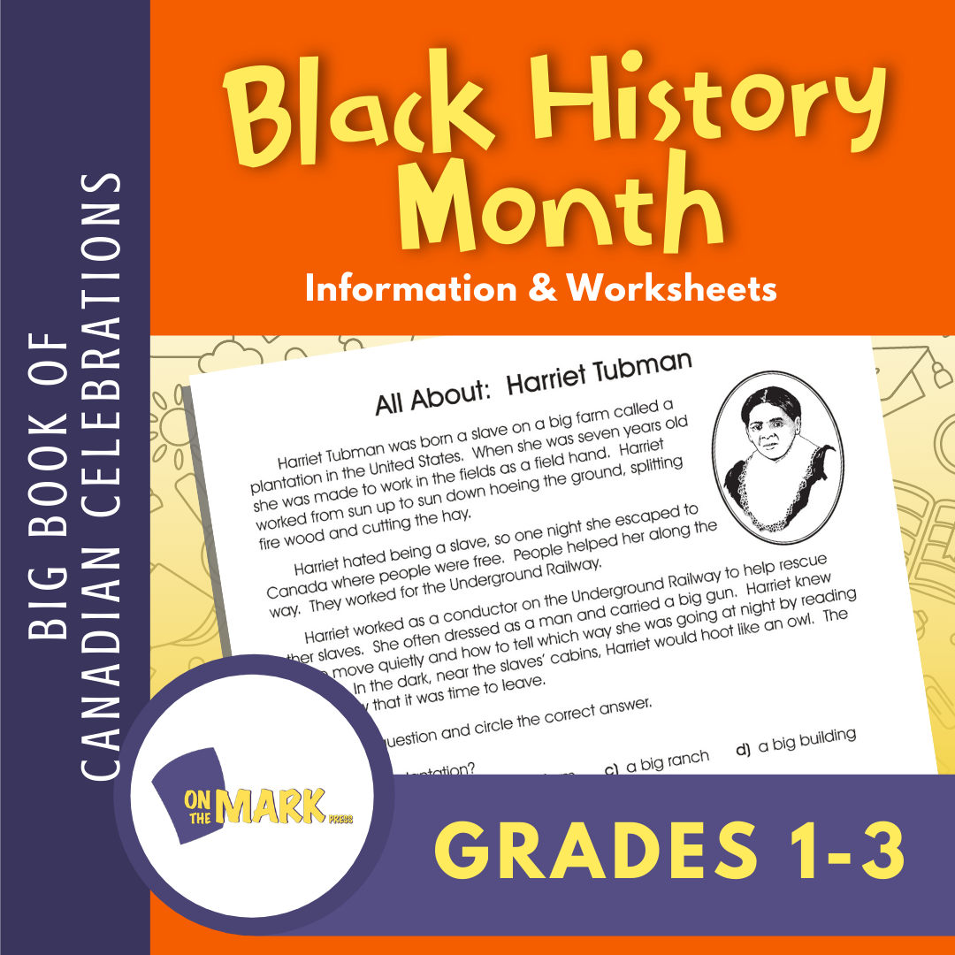 Black History Month Teacher Directed Activity Grades 1-3