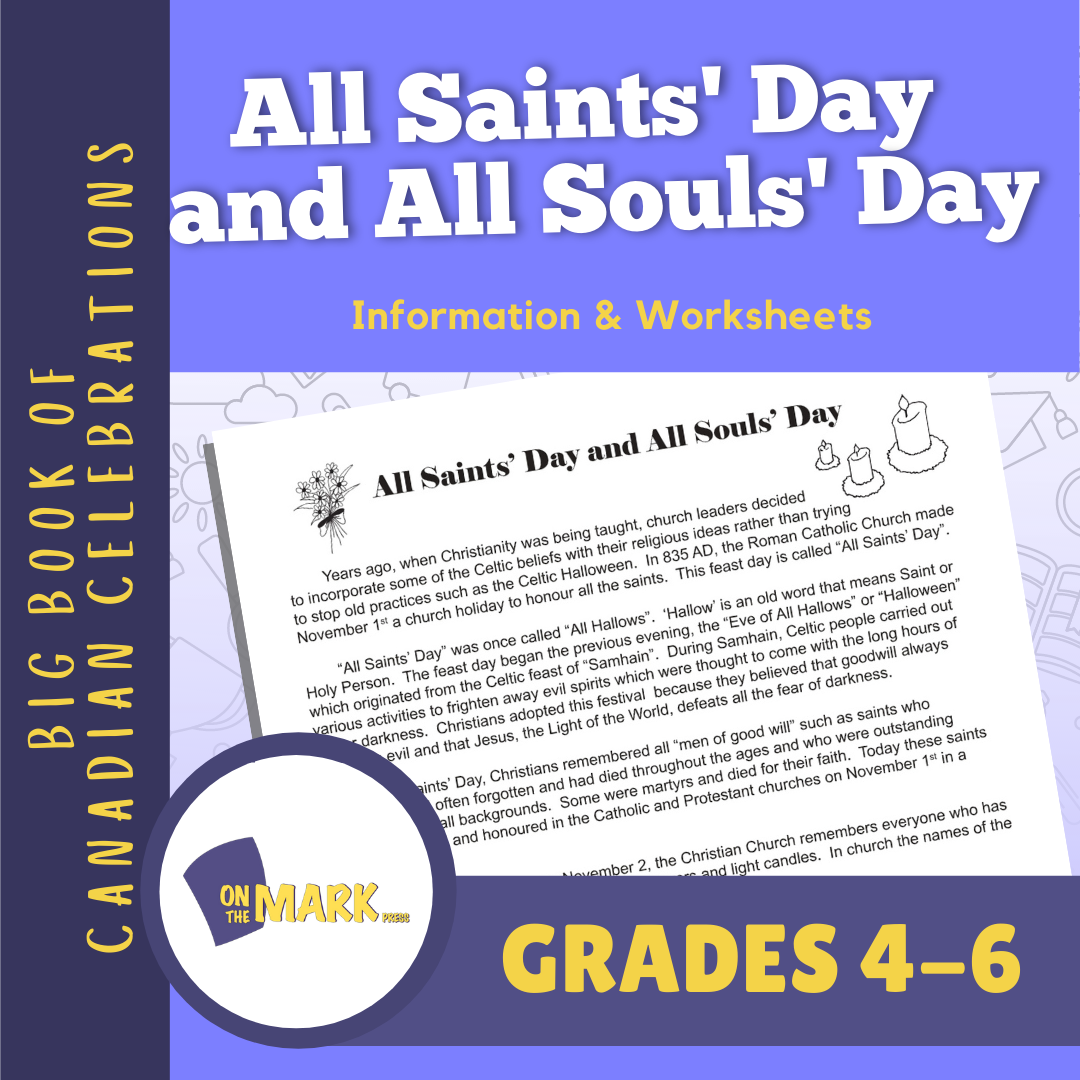 All Saints' Day and All Souls' Day Lesson & Activity Grades 4-6