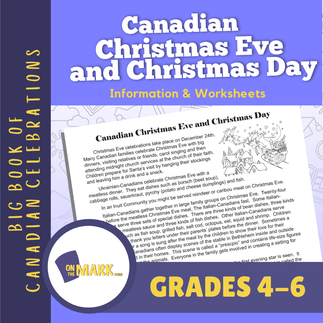 Canadian Christmas Eve and Christmas Day Lesson Gr. 4-6