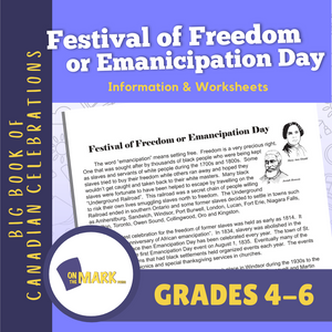 Festival of Freedom or Emanicipation Day Lesson Gr. 4-6