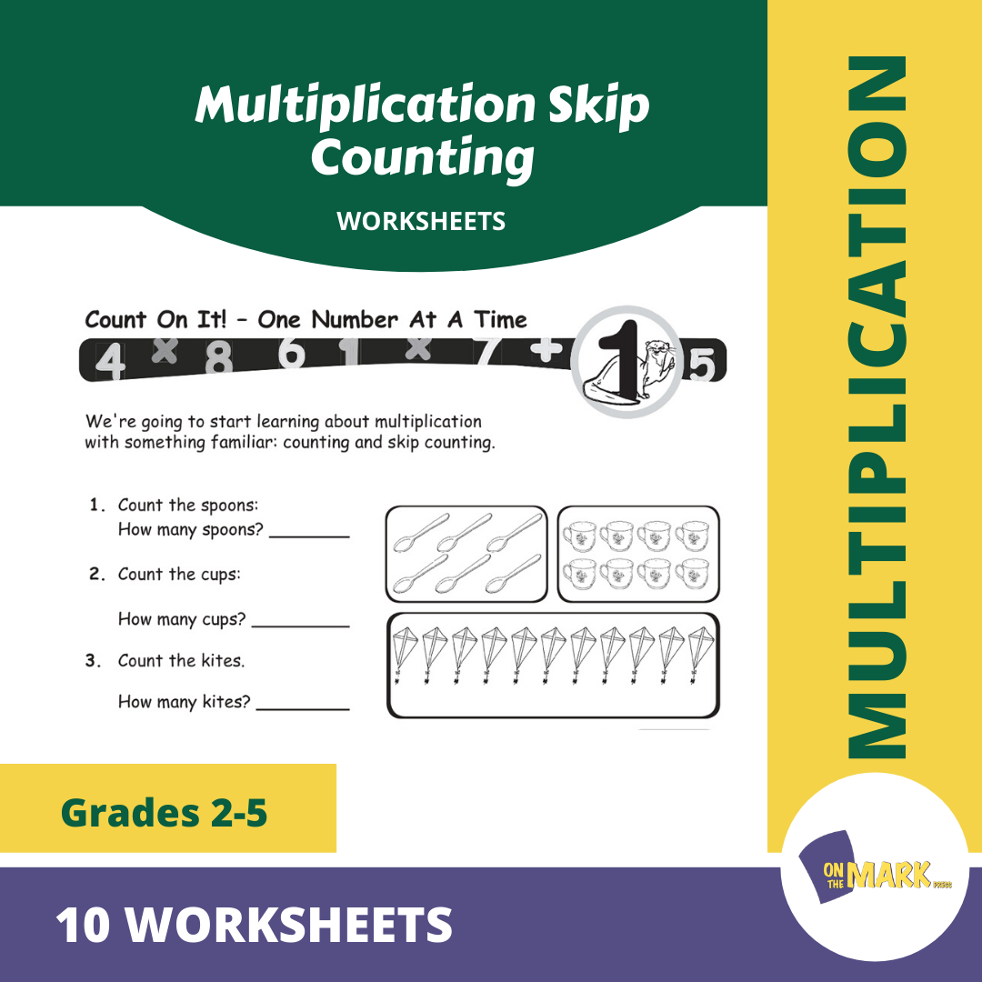 Multiplication Skip Counting Worksheets Grades 3-5