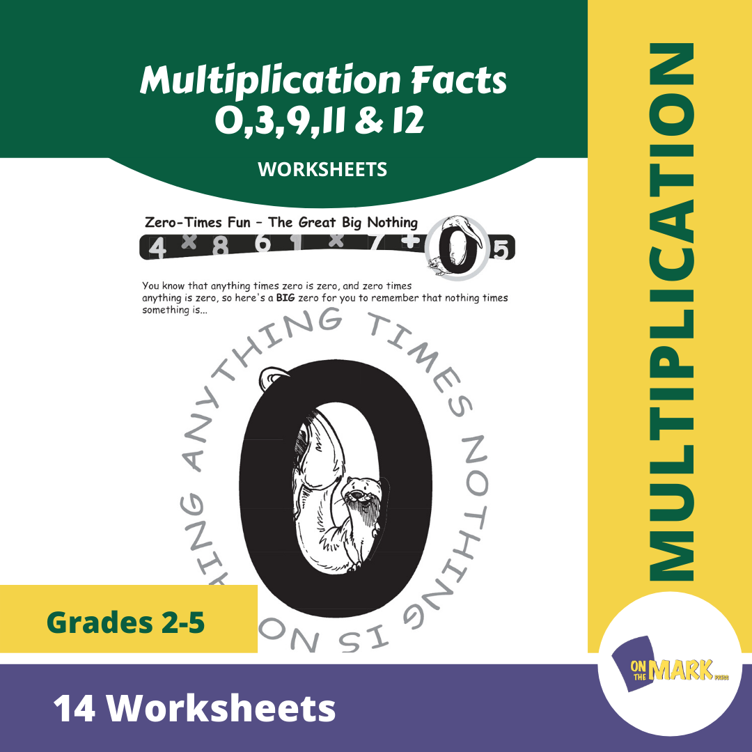 Multiplication Facts 0,3,9,11 & 12 Worksheets Grades 3-5