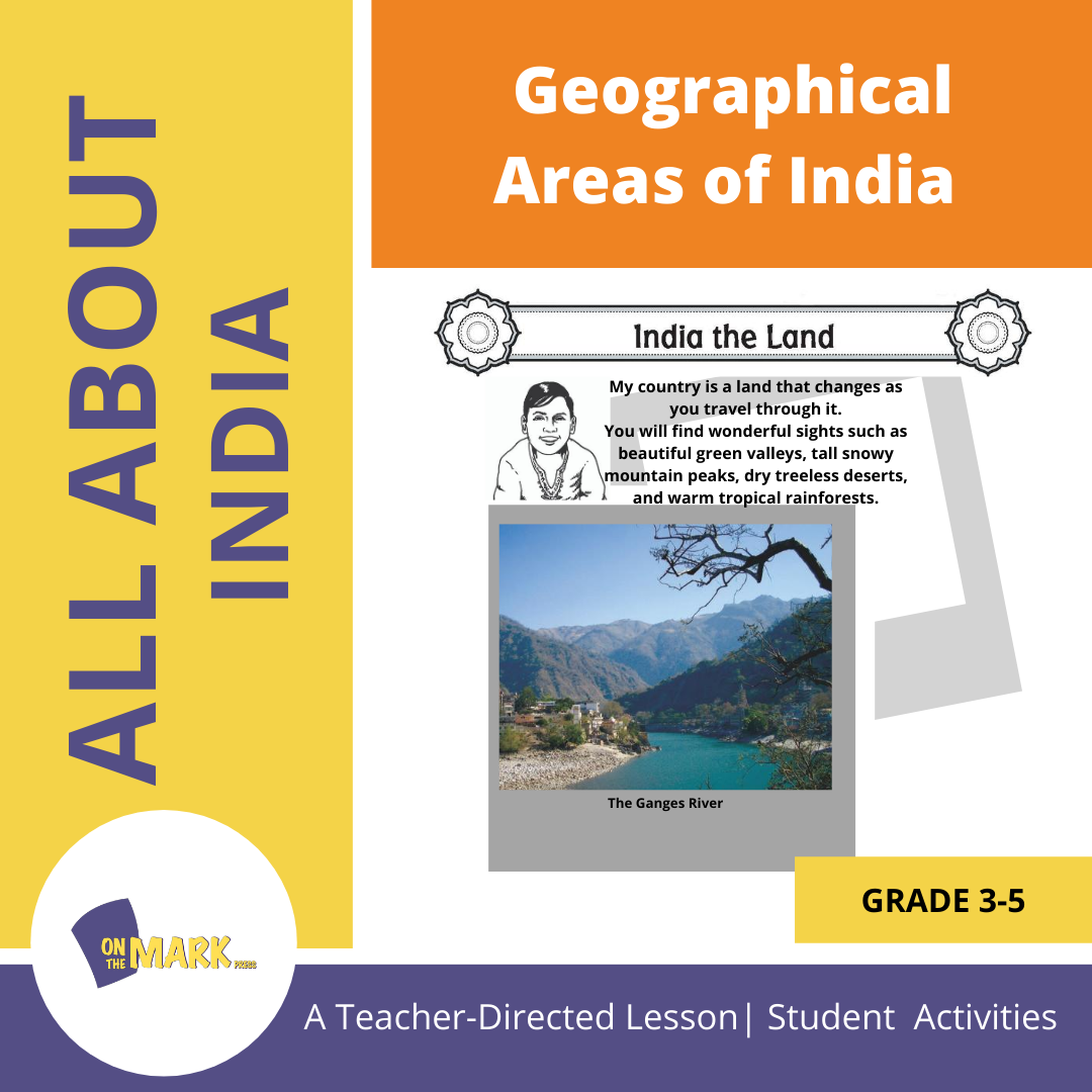 Geographical Areas of India Grades 3-5 Lesson Plan
