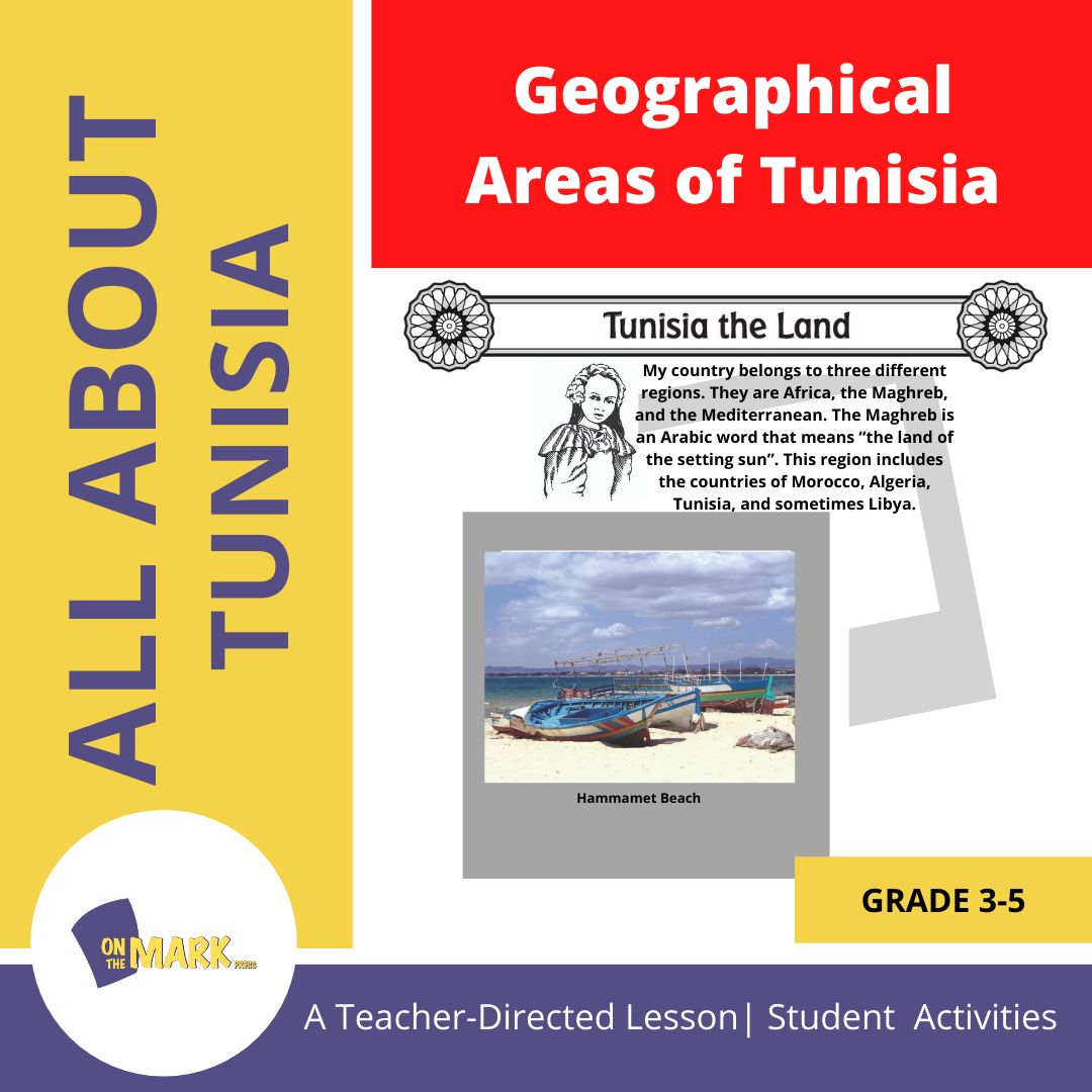 Geographical Areas of Tunisia Grades 3-5