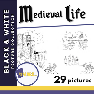 Medieval Black & White Picture Collection Grades 1-8